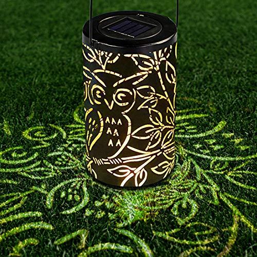 Solarlaterne Für Außen, Solarlaterne für Außen Wasserdicht IP44 Retro Laterne, Außen-Pendelleuchte Eule LED für Garten Hof Terrasse Rasen Party Decor LED Solar Laterne Solarlaterne für außen