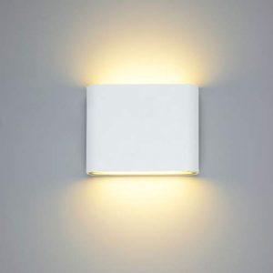 LED Wandleuchte außen Wandlampe Wasserdicht IP65 Wandbeleuchtung Warmweiß (6W Warmweiß Typ A)