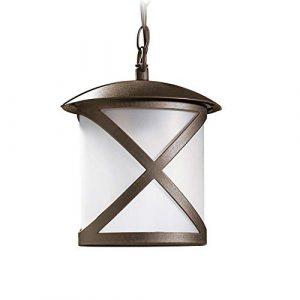 Außenleuchte Pendelleuchte IP23 | Leuchte E27 230V | Aussenlampe max.100W | Lampe rostfarben Aluminium | Hängelampe Außen