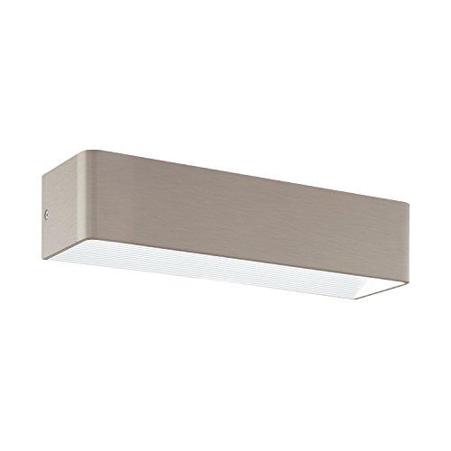 EGLO Wandleuchte, Aluminium, Integriert, Nickel-matt, 36.5 x 10 x 8 cm