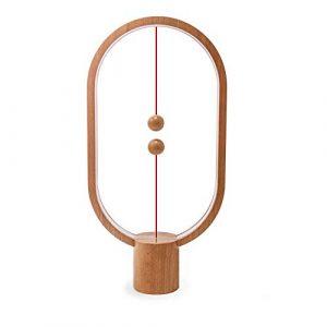 KOBWA Heng Balance Lampe,mittelluftmagnetischer Schalter,mittelluftbetriebene LED-Lampe,weiche Nachtlampe,Tischlampe,dimmbar,warme Augenpflege-Tischlampen, Dekoration für Schlafzimmer,Wohnzimmer