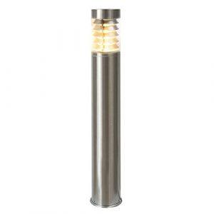 LED Standleuchte, 110cm, Pollerleuchte, Wegleuchte, Sockelleuchte, Gartenleuchte, Außenleuchte, Edelstahl, IP44, E27-230V (Form:S18) (Warmweiß)