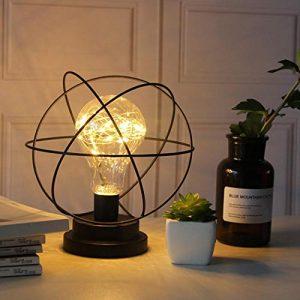 YAGAIU -Batterie LED-Dekor-Lichter, dekorative Lichter für Hauptpartei, Hohle Form beleuchtet Innen, Batterie LED-Glühlampen warmes Weiß Tisch- & Nachttischlampen
