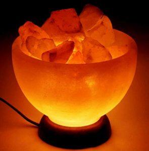 Artigianato Salzsalzlampe von Himalaya BRACIERE von Fuoco MIT GARANTIE Zertifiziert
