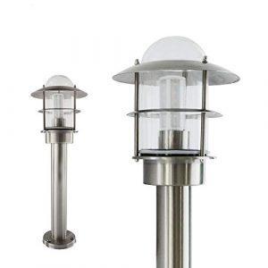 Aussenleuchte Standleuchte Wegeleuchte Garten Standlampe Gartenleuchte Edelstahl Glas E27 251