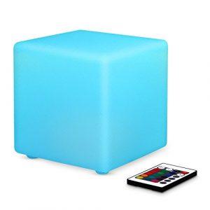 Albrillo LED Nachtlicht mit 16 Farben und Fernbedienung, Dimmbar und Wiederaufladbar RGB Stimmungslicht, IP44 für Innen und Außen