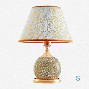 MJY2011 Tischlampe Schreibtischlampe Keramik Tischlampe Schlafzimmer Nachttischlampe Gold,S