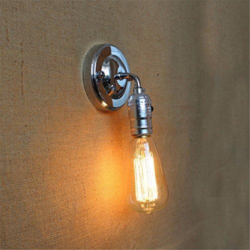YU-K Antike Edison,IndustrieausführungWand antikeWand individuelle Außenbereich,Industrie BügeleiseSchlafzimmerWand ideal für Terrasse GarteAußen Terrasse Licht