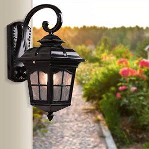 YU-K Antike EdisoIndustrial Style Wand Lampe outdoor Lampeantike Lampewasserdicht Wand für Terrasse GarteAußenOutdoor Terrasse Zauwasserdicht Licht ideal ist