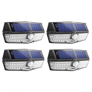 Solarlampe für Außen【INNOVATIVE VERSION】Mpow 30 LED Solarleuchte mit Bewegungsmelder IP6+ Wasserdicht, SunPower Solarlicht 120 ° Weitwinkel Solarlampe Wandleuchte für Garten, Auffahrt, Hof, Garage