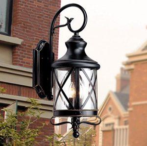 SLitteR Lighting Retro im Freienwand-Lampe Europäische wasserdichte im Freienlampen-kreative Garten-Lampe Amerikanische Balkon-Treppenhaus-Lampe Nachttischlampe