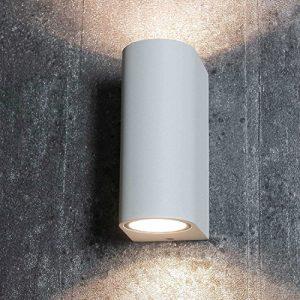 Up & Down Aussenleuchte für die Hauswand in weiß 2x GU10 Fassung bis 35 Watt IP44 Wandleuchte Wandlampe für Hof und Garten