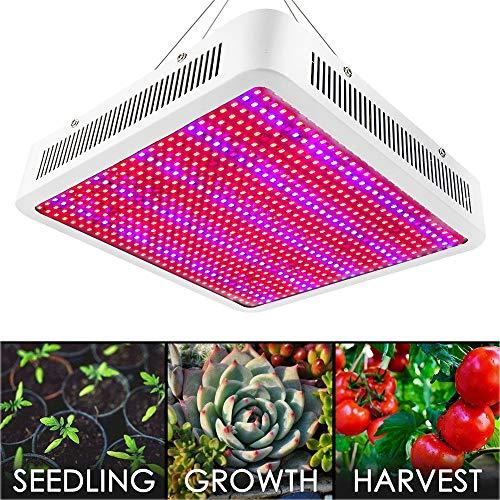 LED Pflanzenlampe XJLED 800W LED Pflanzenleuchte Full Spectrum 800 PCS 2835 SMD Pflanzen Wachstumslampe Pflanzenlicht Wuchslampen Innengarten Pflanze wachsen Licht Hängeleuchte für Zimmerpflanzen Blumen und Gemüse