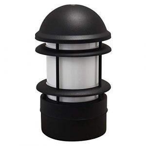Aussenleuchte Sockelleuchte Pfostenleuchte Pfeilerleuchte Aussenlampe Standleuchte Edelstahl 255-300 schwarz Wegeleuchte Gartenlampe