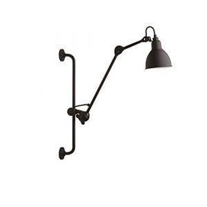 Wandleuchte Nordic Lange Stange Wandleuchte Mode Einstellbar Praktische Schmiedeeisen Wandleuchte Schlafzimmer Nachttischlampe Büro Leselampe (schwarz/Gelb) (Farbe : SCHWARZ)