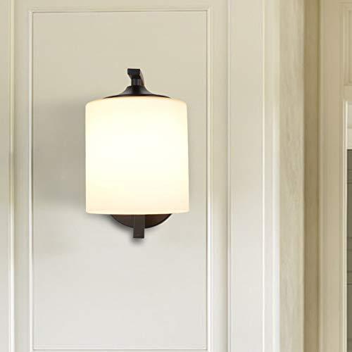 Led wandleuchte Europäischen retro schlafzimmer nachttischlampe studie glas flur gang wandleuchte (26 cm * 21 cm * 14 cm), weißes licht