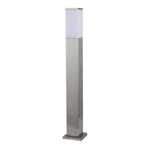 Aussenleuchte 446 80 cm inkl. E27 LED 7W Warmweiß Standleuchte Aussenstandlampe Standlampe AussenStandleuchte Edelstahl