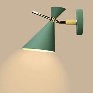 AGECC 110-230V Wandlampenlampe für den Innenbereich Wandlampe, Schlafzimmer mit Eisen, Nachttischlampen, Lampen und Laternen, einfache moderne Wohnzimmer-Gang-Balkonbeleuchtung, Smaragdgrün