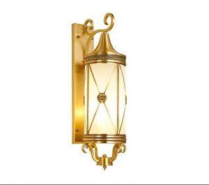 Pendelleuchte Deckenleuchten IndustrialE27Wall Lampe Amerikanische Kupfer-Außenwandleuchte Wasserdicht Balkon Villa Wandhalterung Licht-Hallen-Korridor-Wandhalterung Licht Foyer