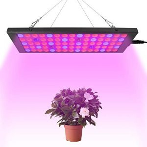 ONEVER Plant Grow Light 50W LED Ultradünnes Vollspektrum Plant Light 300-830nm Indoor-Einsatz Flutlicht Pendelleuchte