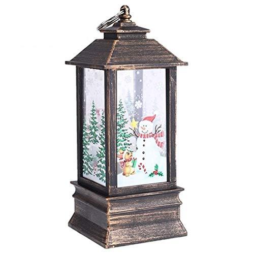 Riklos Mini Dekorative Tischlampe Kreative Druck Lichter Weihnachten Kerzenständer Dekoratio Tisch- & Nachttischlampen