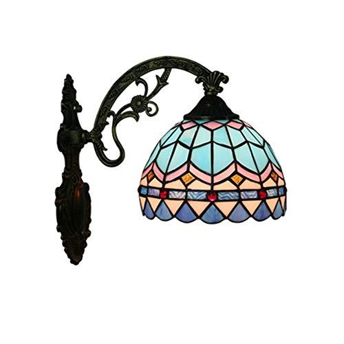 Mediterrane Wandlampe Schlafzimmer Nachttischlampe Wohnzimmer Balkon Gang Wandleuchte, Licht Mund nach unten