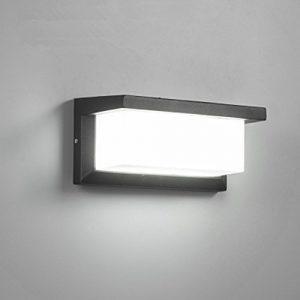 Lightess LED Wandleuchte Außen Außenbeleuchtung Außenlampe Wand Alu 10W Kaltweiß Rechteck IP54 Wasserdicht 1000LM