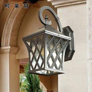 YU-K Antike Edison,IndustrieausführungWand Außen-WandWasserdicht Villa Innenhof mit Gärteund einem Außen-LED- ist ei ist ideal für Terrasse GarteAußen Terrasse Licht,250 * 380mm