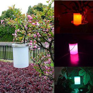 hunpta die neue Solar Eimer-Form LED-Hängelampe Kronleuchter Garten hängende Windlichter mehrfarbig