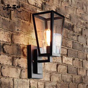 YU-K Antike EdisoIndustrial Style Wand Lampe industrielle Loft Treppe Terrasse wasserdichte outdoor Wand ist für Terrasse GarteAußenOutdoor Terrasse Zauwasserdicht Licht ideal