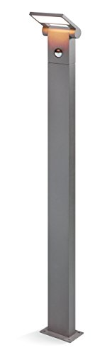 Moderne LED Sensor Wegeleuchte Lichtfarbe warmweiß 3000K, Leistung 10 Watt 600 lm, Einstellbarer Bewegungsmelder mit max. 10m Reichweite, (B x H x T): 12 x 100 x 13 cm, Pollerleuchte esotec 201162