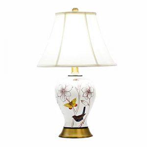 GXJ- Ramp mat Chang-dq Keramische Tischlampe der Blume und des Vogels, Schreibtischlampe des E27 Schlafzimmernachttischs Restaurantlampe Nachttischlampe Autobahn gewidmet (größe : 36 * 36 * 59CM)