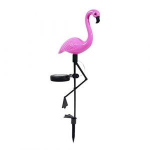 Flamingo, Solar LED, Solar-Erdspieß für den Außenbereich, wasserdicht, mit Flamingo Deko-Pendelleuchte