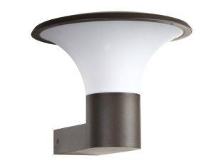Trio Leuchten LED Außen-Wandleuchte, Aluminiumguss, inklusiv 1 x E27, 4 W, Höhe 22 cm, ø 27 cm, anthrazit 220160142