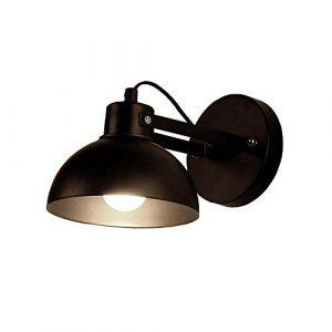 Wandleuchte Schwarz/Weiß Verstellbares Schmiedeeisen Wandleuchte Wohnzimmer Studie Leselampe Schlafzimmer Nachttischlampe Ganglampe (15×12 cm) (Farbe : Schwarz)