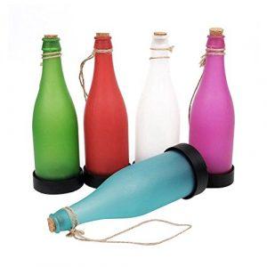 Solarbetriebene Flaschenleuchte, LEDMOMO Wein LED Garten Yard Beleuchtung Hängelampe für Outdoor Party Garten Patio Pathway Decor