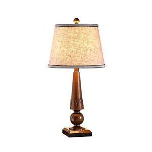 DEPAOSHJ Leinen-Lampenschirm für Nachttischlampe 2 Packs Indoor Couchtisch Tischlampe, einfache Tischlampe für Studie Büro moderne Wohnzimmer Dekoration kreative Tischleuchte (Color : Red-1 pack)