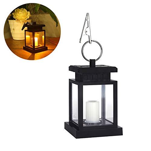 CTlite Solar-Hängeleuchte, Vintage-Design, für den Außenbereich, LED-Solar-Laterne, wasserdicht, dekorative Tischlampe mit Clip für Terrasse, Regenschirm, Zelt, Garten, Außenbereich, Baum, Warmweiß