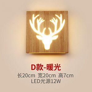 Modern LED Wandleuchte Wohnzimmer-Schlafzimmer-Nachttischlampe der japanischen Art des festen Holzes der dekorativen Gangkorridor-Kaffeestube des kreativen Holzes, Büro. Vintage Retro Café Loft Bar.