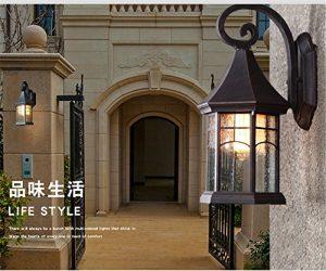 YU-K Antike StyleWand Lampe Außen-WandWasserdichte outdoor Off-road Innenhof Terrasse TreppeWand ideal für Terrasse GarteAußenOutdoor Terrasse Zauwasserdicht Licht,Farbe