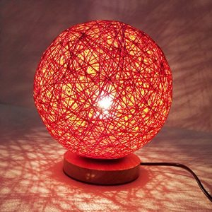 Moderne Nachttischlampe Simple Wood Be