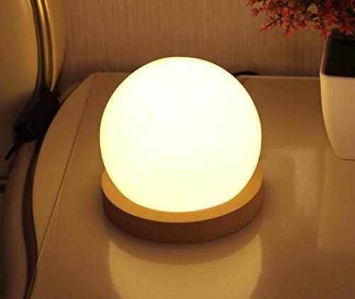 Nachtlicht führte neue exotische kugel dekoration lampe retro augenschutz usb nachttischlampe schlafzimmer dimmbar