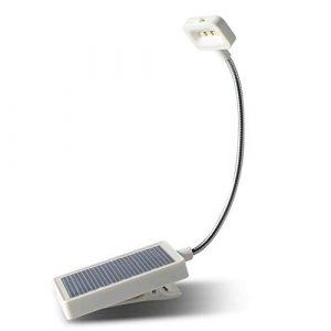 Tragbare Solar-Leuchte mit USB-Ladebuch/Schreibtischlampe, faltbar, E-Book, Leselampe, 3 Stück