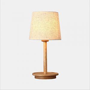 ARAYACY Nordic Schlafzimmer Holz Tischlampe Führte Kreative Holz Warm Dekoration Tischlampe Nachttisch Japanischen Stil Schreibtischlampe,170 * 180 * 420mm
