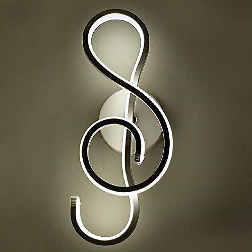 Led musikalische symbol wandleuchte einfache wand schlafzimmer nachttischlampe postmodern minimalistischen nordic wohnzimmer gang lampe (?)