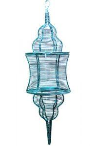 MAADES Orientalische Laterne aus Metall Sintra 60cm Grün | Orientalisches Marokkanisches Windlicht hängend | Marokkanische Gartenlaterne für draußen, oder Innen als Hängelaterne (Grün)