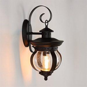 YU-K Antike StyleWand Lampe Außen-WandWasserdicht EiseSonne Zimmer im Freieauf der Terrasse im Innenhof FahrscheinwerferWand ideal für Terrasse GarteAußen Terrasse Licht