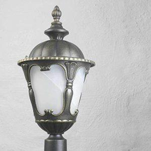 Rustikale Wegbeleuchtung Garten IP44 1,2m Ø21cm E27 Außen Stehlampe Design Antik Terrasse Hof Einfahrt