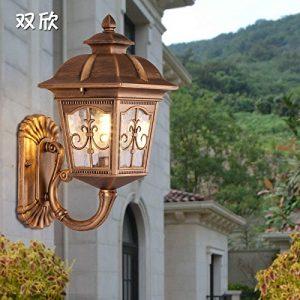 YU-K Antike styleWand LampeWand outdoorWasserdicht GarteGarteder Villa Licht vor derWand,Wand 古 Farbe ideal für Terrasse GarteAußenOutdoor Terrasse Zauwasserdicht Licht