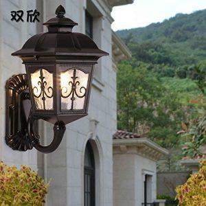 YU-K Antike styleWand LampeWand outdoorWasserdicht GarteGarteder Villa Licht vor derWand Lampe t,schwarz ideal für Terrasse GarteAußenOutdoor Terrasse Zauwasserdicht Licht